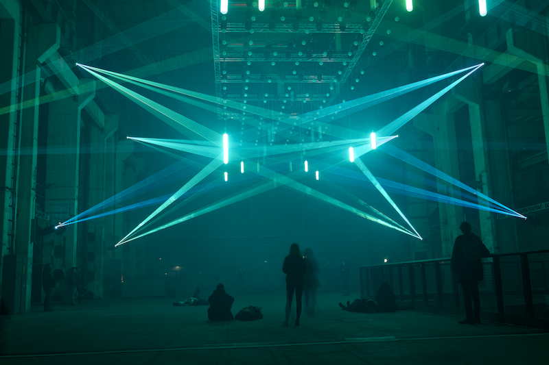"""Deep Web"" Audiovisual Kinetic Installation by Christopher Bauder [Artistic Direction] and Robert Henke [Sound Design + Music] [2015-2016] 
